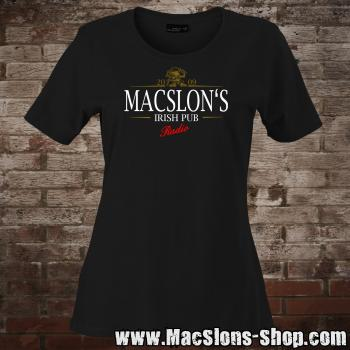 "MacSlon's ""Stout Logo"" Girly-Shirt (black)"